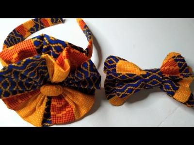 Two headbands made with African fabric Ankara   easy DIY