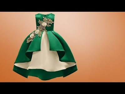 Diy Designer Baby Frock For 7 to 8 year Cutting & Stitching Full Tutorial