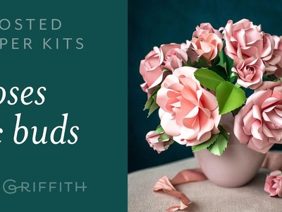 DIY Gorgeous Rose with Frosted Paper : Easy to Use Paper Flower Kit for Beginners (full tutorial)