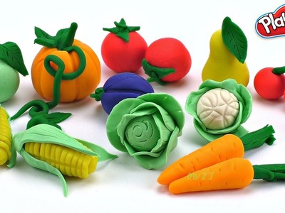 DIY How to Make & learn fruits and vegetables with Play Doh Learn Colors for Kids