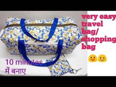 Handmade handbag cutting and stitching.travel bag. zipper bag.shopping bag.grocery bag