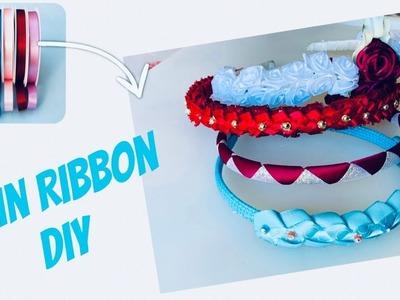 Headband designs || Hairband Ideas || DIY Satin Ribbon Crafts