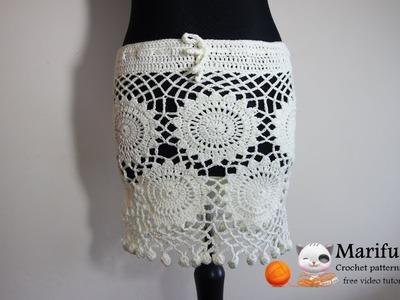 How to crochet amazing summer beach skirt by marifu6a