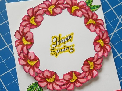 ????LIVE Making A Wreath Card With Our New Stamp Set