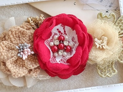 Make Baby Headband with Anjurisa #5 - Ranunculus Flower Tutorial