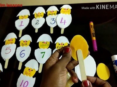 Maths TLM for primary classes,numbers and number names
