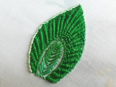 New & Easy Leaf Design | Ribbed Spider Web Leaf Design (Hand Embroidery Work)