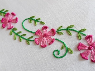New Floral Border Design (Hand Embroidery Work)