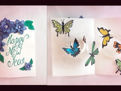 New Year Greeting Card 2019 || Greeting card idea specially for New Year
