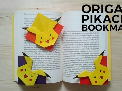Origami Pikachu Bookmark Tutorial