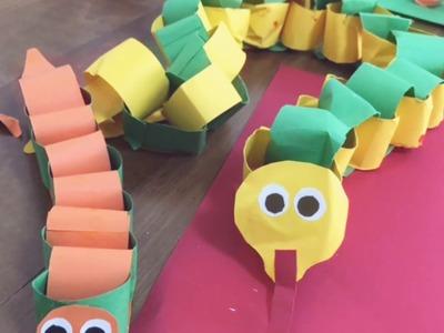 Paper snake craft for kids