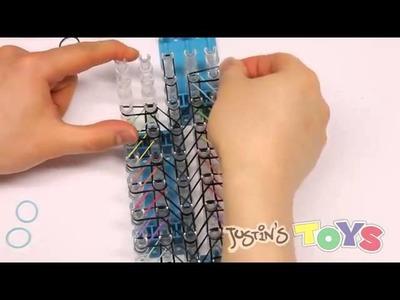 Rainbow Loom Labyrinth Advanced Bracelet Requires 4 Looms