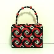 Red,Black & Sliver Jeweled Skull Handbag/Purse