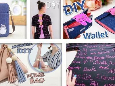 SUPER DIYs OLD CLOTH RECYCLE INTO CUTE BAGS & T-SHIRT. Cool DIY Bag Tutorials