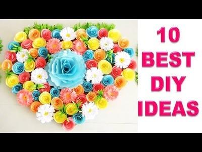 10 Wall Decoration Ideas | Beautiful Wall Hanging Making at Home