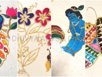 Aari work for beginners | aari online students work | aari basic stitches classes  | #232