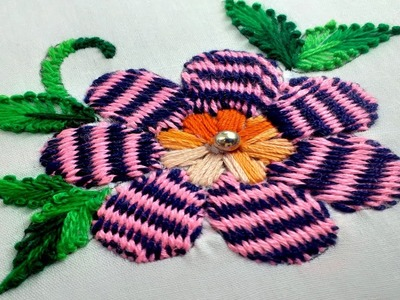 Amazing gestreifter webstitch border design tutorial