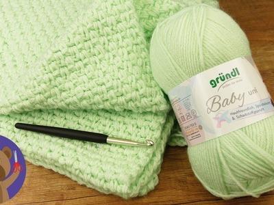 Baby Blanket DIY 70x90cm   Easy Crocheting Pattern   Crochet Projects for Beginners