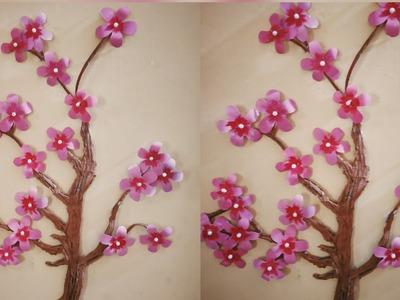 Beautiful Pink Flower Wall Decor. Flower wall Hanging. Blossom Tree Wall Decor