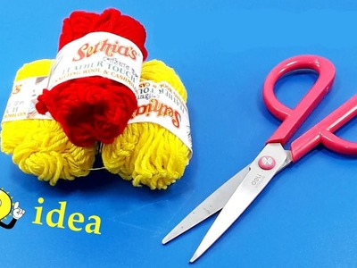 Best craft idea with Woolen | DIY Home Decor | DIY arts and crafts