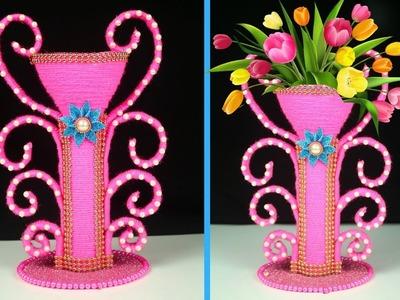 Best Out of Waste Big Size Flower Vase Make at Home | Easy Flower Pot for Home Decoration