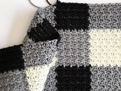 Crochet Griddle Stitch Gingham