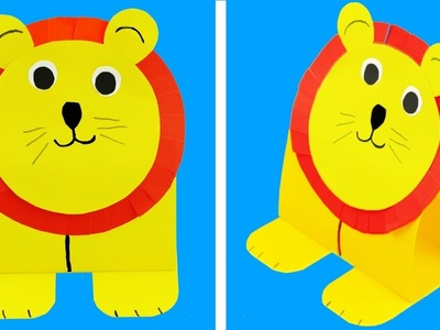 DIY: Art Cutting Paper || How To Make A Paper Lion || Origami Lion (Paper Craft)