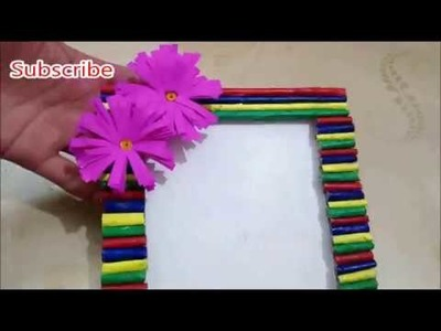 DIY Newspaper Photo frame Tutorial | Handmade Photo frame from newspaper | Best out of waste.