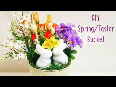 DIY Spring Floral Arrangement Centerpiece Decor, Artificial Flowers
