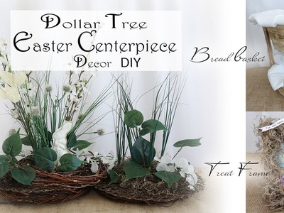 Easter Centerpiece DIY. Dollar Tree Easter DIY. Easter Party Decor