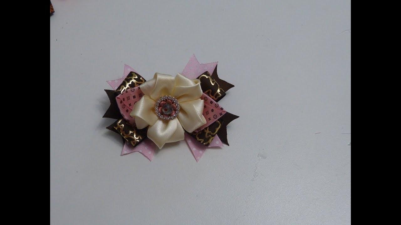 FLOR DE CINTA , Satin ribbon flower tutorial,Ribbon flowers how to make