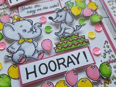 Happy Birthday Balloon Card | Mindless Crafting Stamp Set