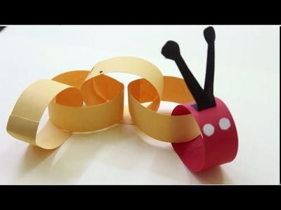 How to Make a Paper Caterpillar - Kids Craft Idea | Kids Craft Idea | Preschool craft idea