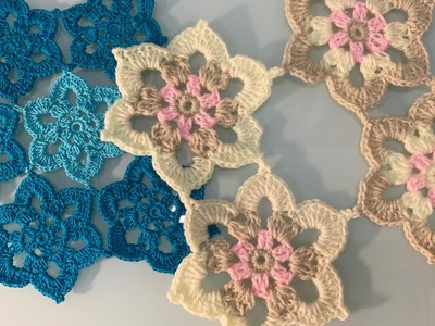 HOW TO MAKE FLOWER MOTIF AND JOIN AS YOU GO