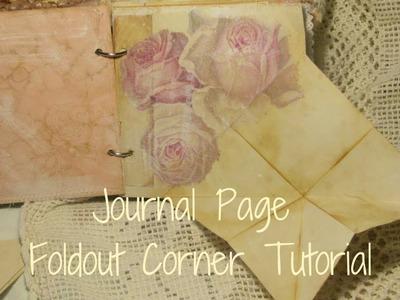 Journal Page foldout Corner Tutorial