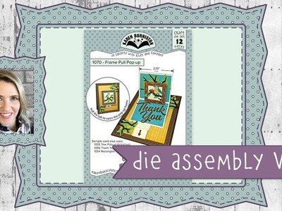 Karen Burniston Die Set #1070 Frame Pull Pop-up Assembly