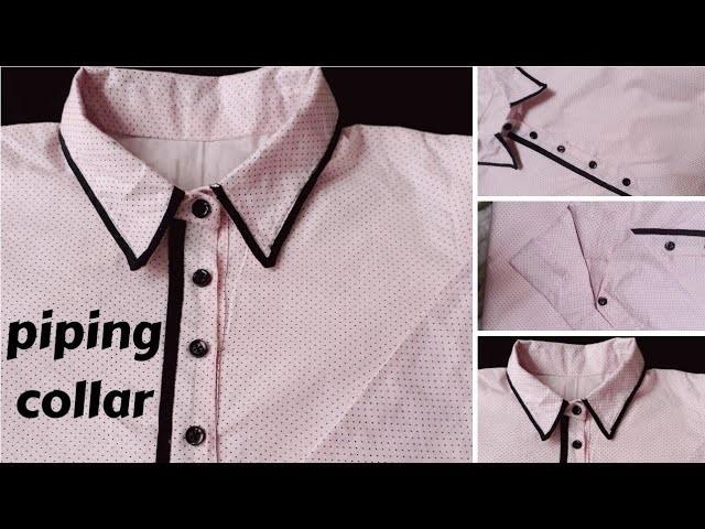 Ladies shirt Collar neck design Cutting and Stitching