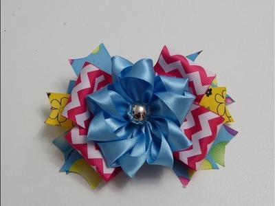 Las Flores mas faciles paso a paso , Satin Ribbon Flower tutorial