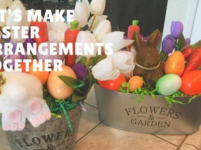 Let's Make 2 Easter  Arrangements Together