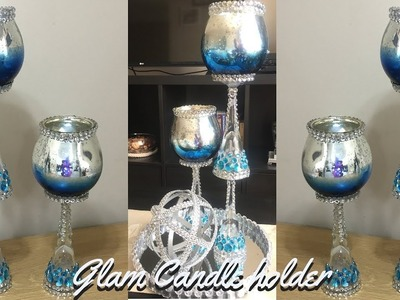New! DIY Glam Spring.Summer Candle Holders, Home Decor 2019