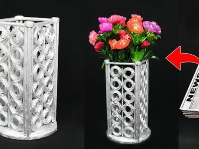 Newspaper Flower Vase | Flower Vase Ideas. Flower Vase Making | Home Decoration Ideas (2019)