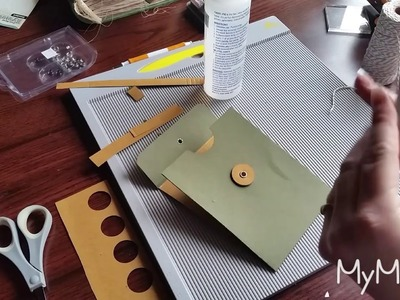 (Part 2) Envelope Tutorial (String & Button Closure) for Junk Journals and Happy Mail