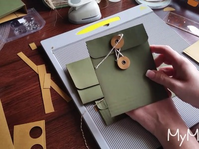 (Part 3) Envelope Tutorial (String & Button Closure) for Junk Journals and Happy Mail