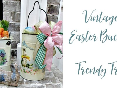 Quick & Easy Easter Decor with Vintage Easter Buckets from RAZ