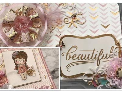 Shabby Pink And Gold Embellishment Box From Yoli Fernan