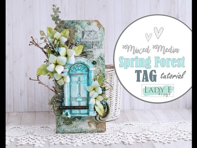 Spring Forest Mixed Media Tag Step by step for Instagram Hop