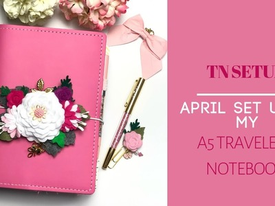 SPRING SET UP in my A5 Travelers Notebook