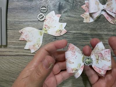 Triple loop paper bow