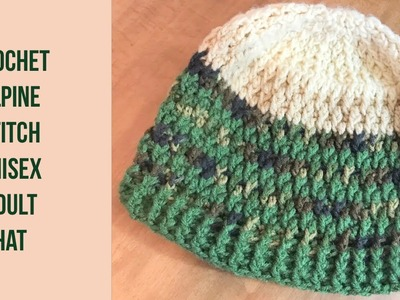 UNISEX crochet adult ALPINE STITCH Hat - Tamil version