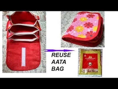 VERY USEFUL BAG FOR HOME & WHILE TRAVELLING from AATA BAG , cutting & stitching in hindi travel bag